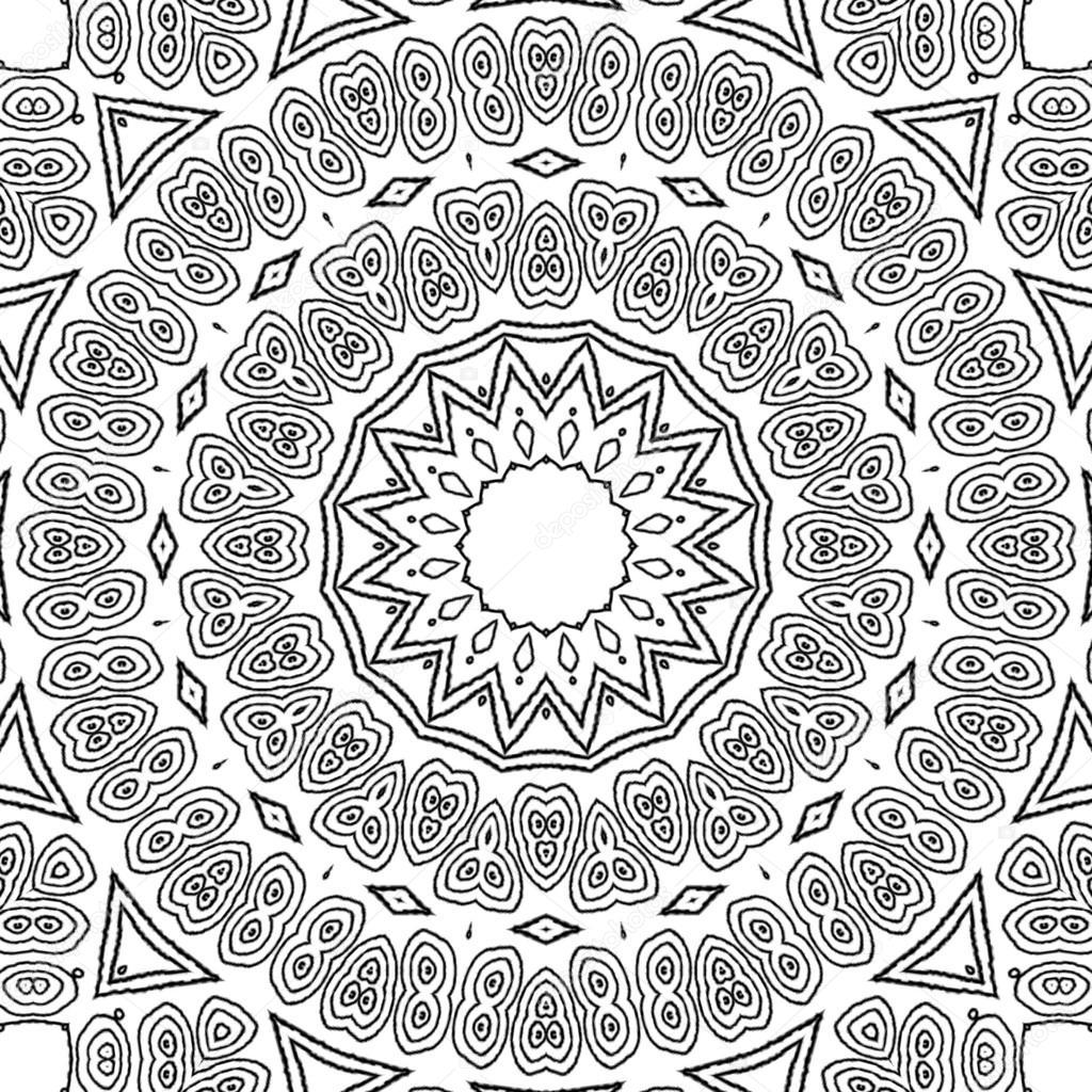 coloring page mandala concentric circle ornament stock photo ur