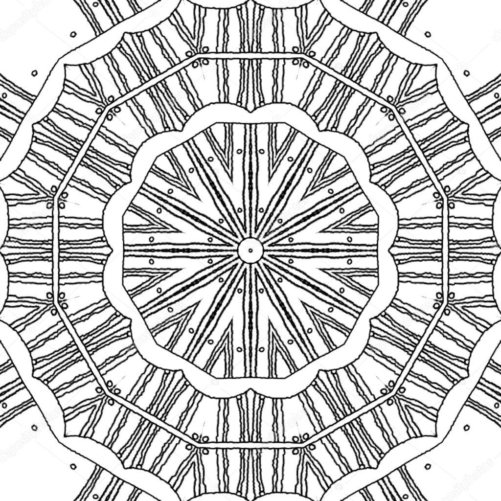 Boyama Sayfası Mandala Eşmerkezli Daire Desen Stok Foto Ur
