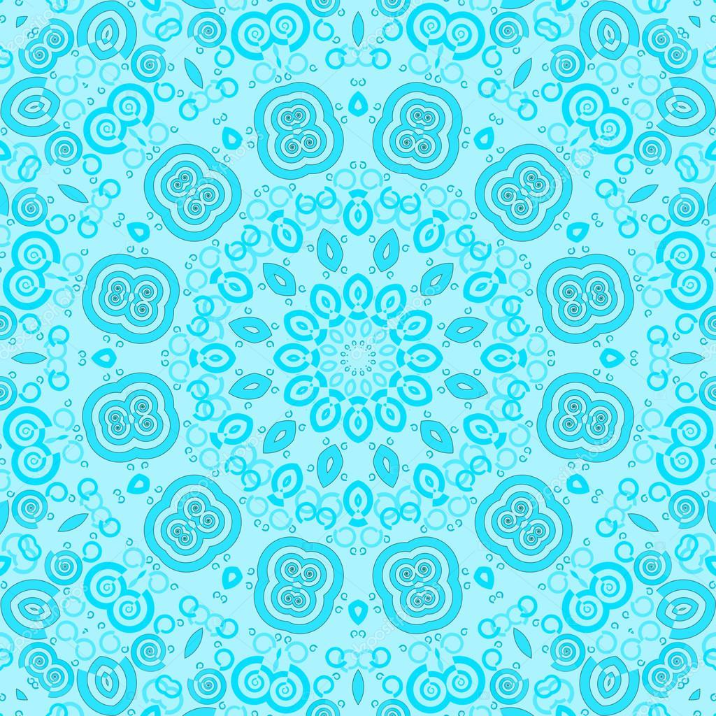 wandgestaltung mit farbe blau schattierungen, nahtlose ornament im türkis-blauen schattierungen — stockfoto © ur, Design ideen