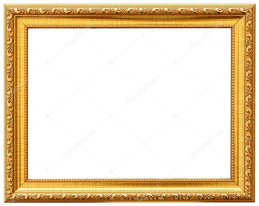 Wood Vintage Frame Isolated On White. Wood Frame Simple Design. U2014 Stock  Photo