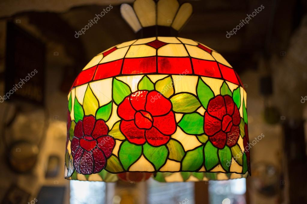 luster made of colorful glasses