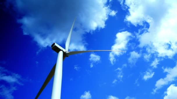 Concept Of Using Natural Resources Intelligently.Wind Energy Turbines,Wind Power,4k, time lapse