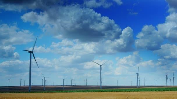 cc07ad41e64 Turbinas eólicas em um campo de trigo