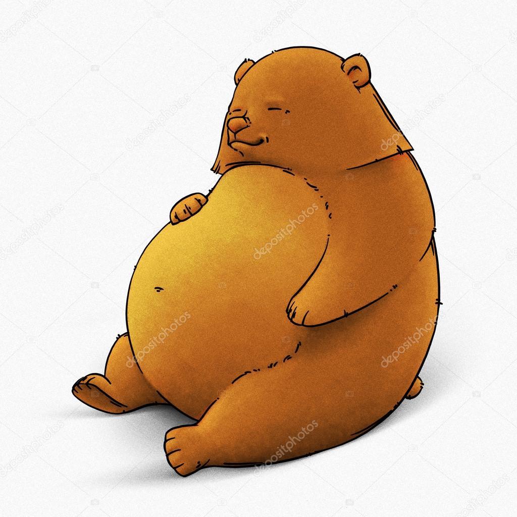 面白い漫画かわいいクマのイラスト ストック写真 Turaevgeniygmail
