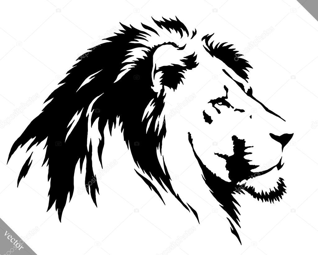 Vector: León Blanco Y Negro