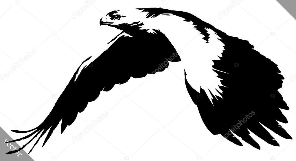 illustration vectorielle de peinture noir et blanc dessin aigle oiseau image vectorielle. Black Bedroom Furniture Sets. Home Design Ideas