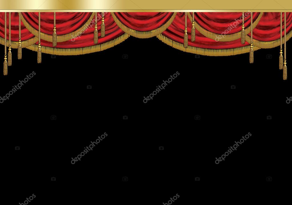 Front Of House Theatre Design Part - 43: Curtain Theater. Luxury Curtain. Red Royal Curtain. Front Curtain, House  Curtain, Act Curtain. Grand Curtain On Black Background.