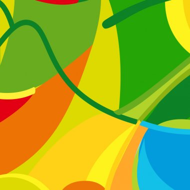 Rio 2016. Olympic Games summer color background. Abstract colorful summer pattern for Art, Print, web design. Green, yellow, red, Orange color