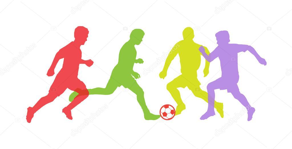 Fussballer Silhouetten Vektor Fussballspieler Fussballspieler