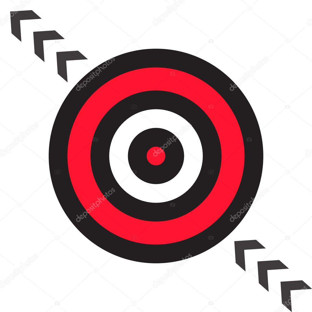 Target Target Icon Vector Target Icon Pictograph Of