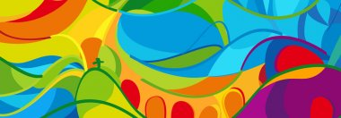 Rio 2016. Olympics and Paralympic Games. Rio de Janeiro Brazil Abstract colorful wavy pattern. Olimpic Sport abstract background. Vector illustration
