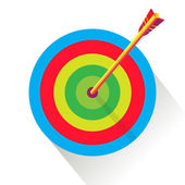 Archery target abstract background, Rio 2016. Olympics and Paralympic Games Archery target illustration. Target icon. Rio 2016.