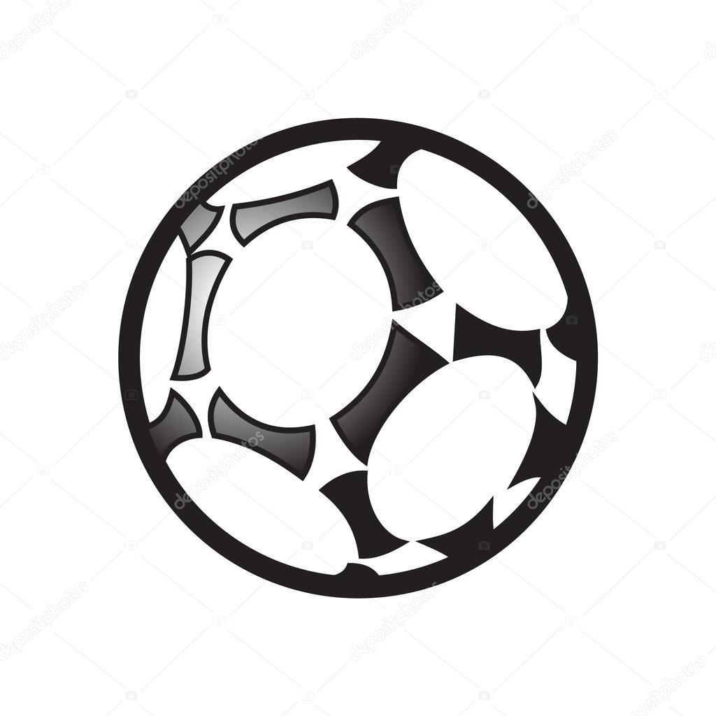 soccer ball isolated on white background championship soccer symbol