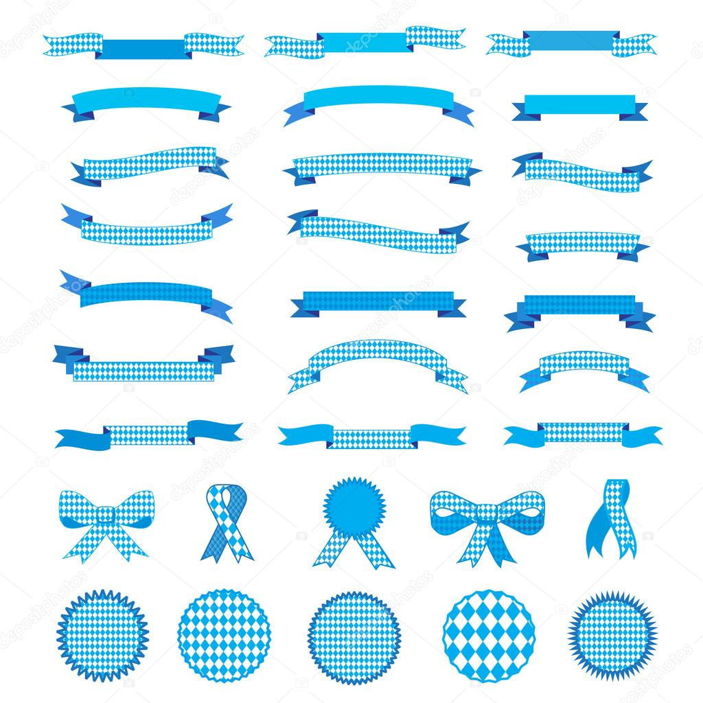 Oktoberfest ribbon and bow tie labels and oktoberfest logo ribbon and bow tie labels and oktoberfest logo banners frames set bavarian flag blue pattern texture ribbons and banners frames borders ccuart Gallery