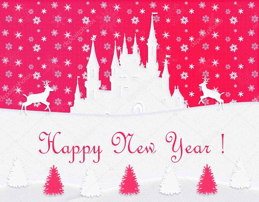 Happy New Year post card. Winter, holiday — Stock Photo ...