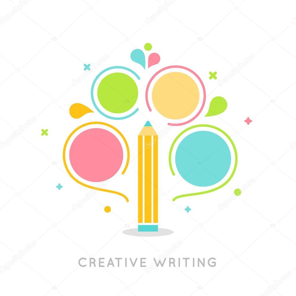 Plantilla de infografía Plan de escritura creativa — Vector de stock ...