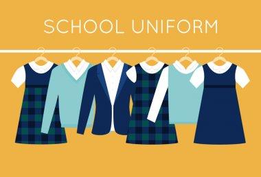 School Uniform for Children and Teenagers on Hangers