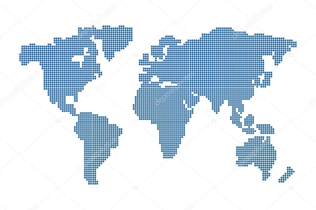 World map vector dots on white background vector de stock world map vector dots on white background vector de stock gumiabroncs Image collections