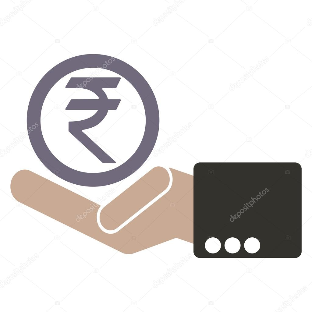 Human hand with currency rupee symbols for market and stock money human hand with currency rupee symbols for market and stock money exchange concept in vector biocorpaavc Images