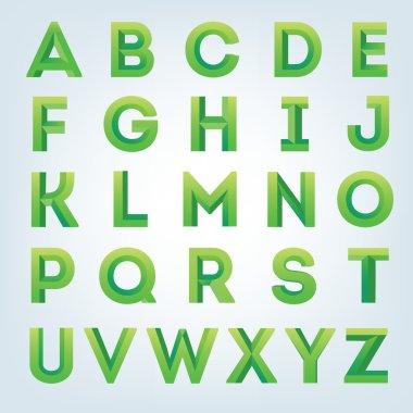Creative 3D alphabet set.