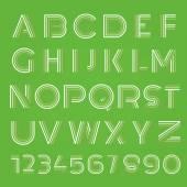 Photo Geometric lines font