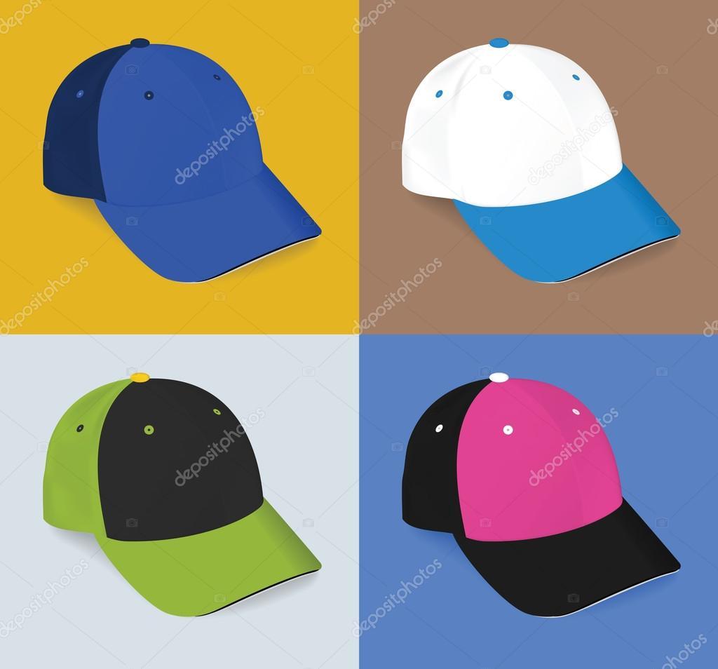 Conjunto de gorra de béisbol realista de deportivas en blanco — Archivo  Imágenes Vectoriales 5e208667df4
