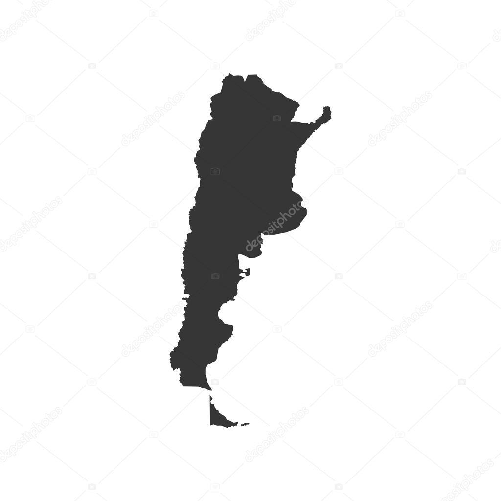 ilustración de silueta de mapa de argentina archivo imágenes