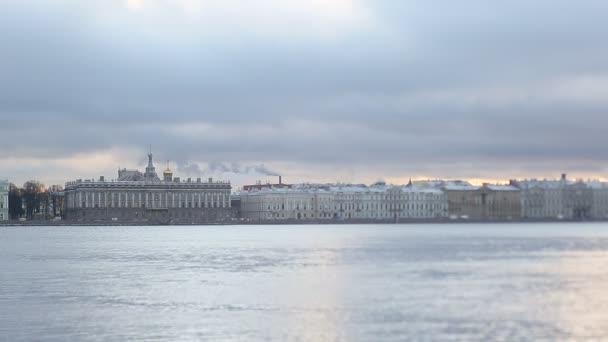 Petrohrad, Rusko - 15 prosince 2015: Panoramatický pohled město Petrohrad
