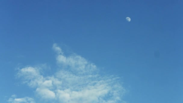 Blue Sky with Moon