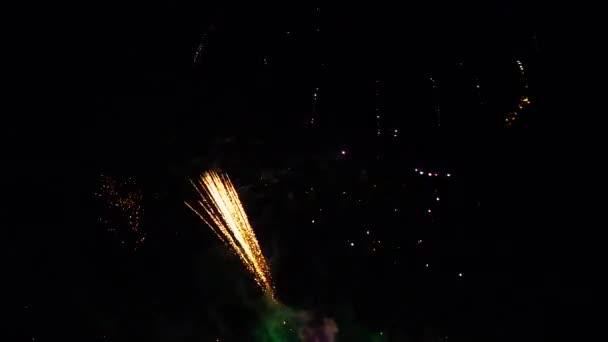 Feuerwerk am Strand, Frankreich