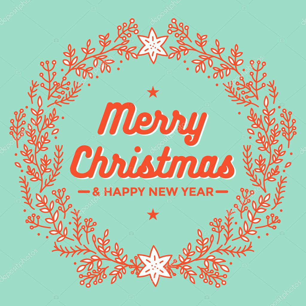 Frohe Weihnachten Schablone.Frohe Weihnachten Und Ein Gutes Neues Jahr Fur Poster Und