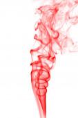 Abstraktní červená kouře na bílém pozadí
