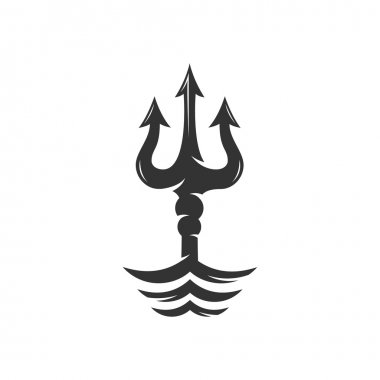 Trident on the waves logo