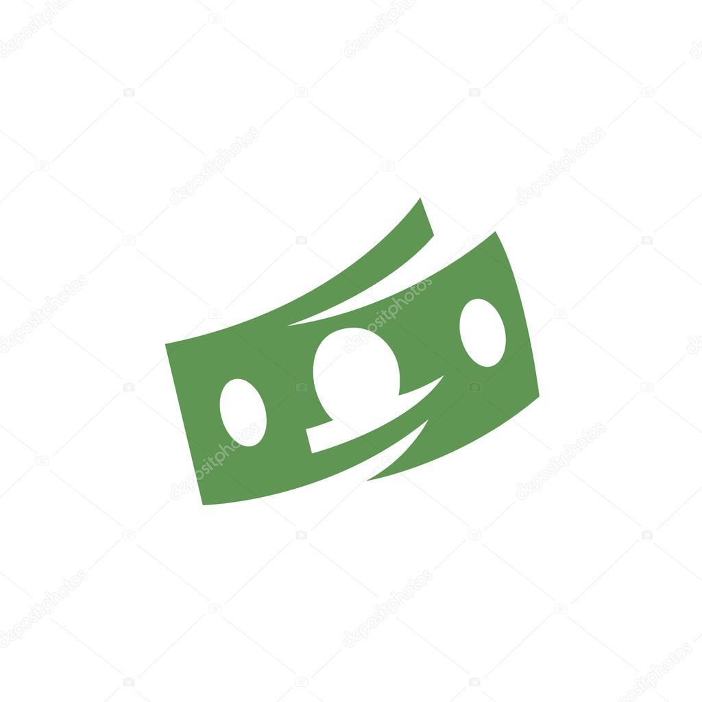 money icon vector logo element for template stock vector
