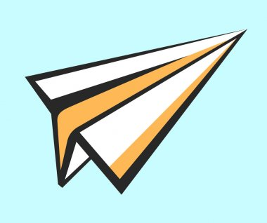 Paper plane vector icon. Pop art style sign. Air mail, post letter, delivery service or e-mail vector concept. Career, growth, infographic or leadership conception