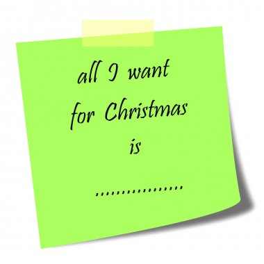 all I want for Christmas note