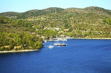 landscape of Ithaca island Greece