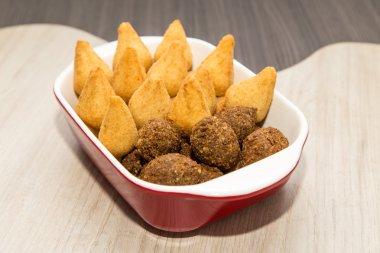 Mix of brazilian fried mini snacks