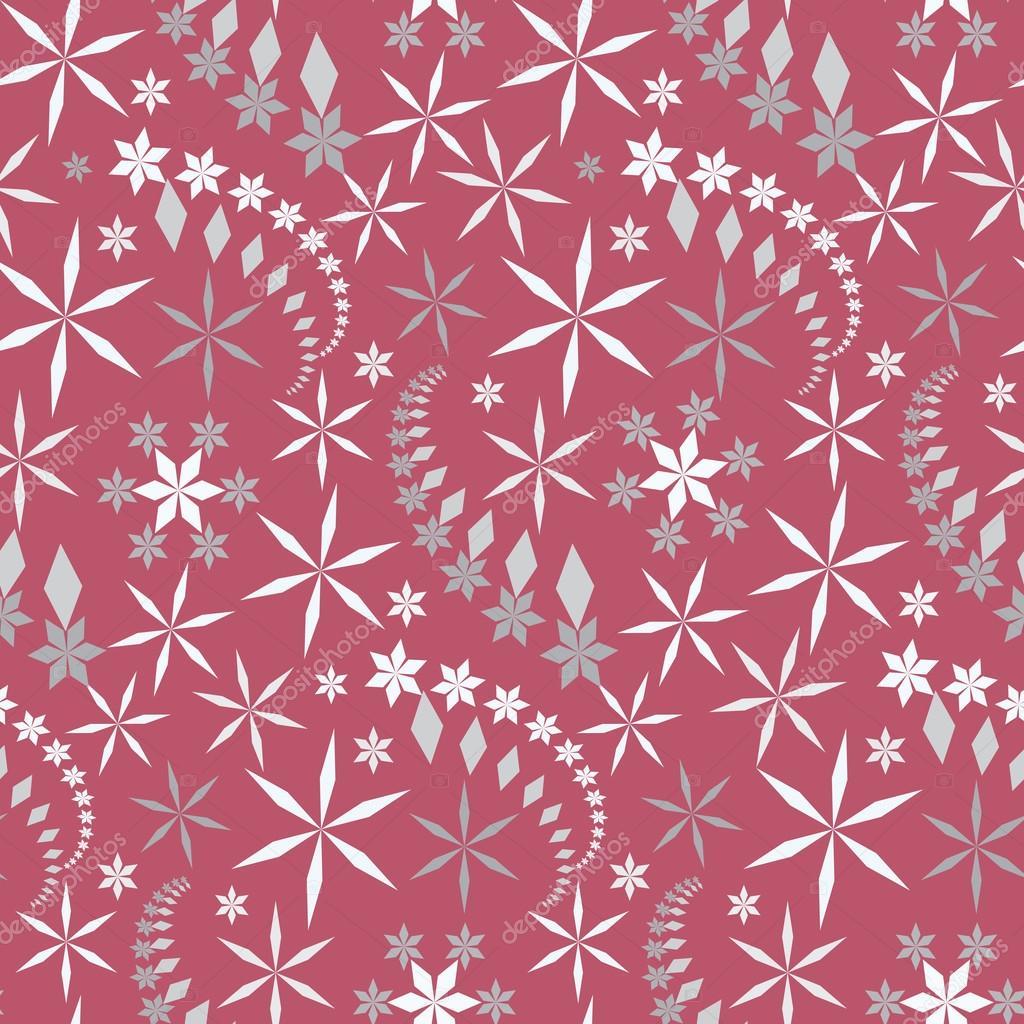 Nahtlose Weihnachten Muster. Kristalllicht Schneeflocke, Stern ...