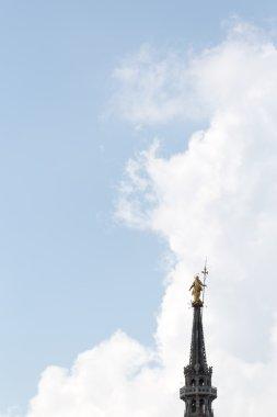 Mary golden statue, Milan