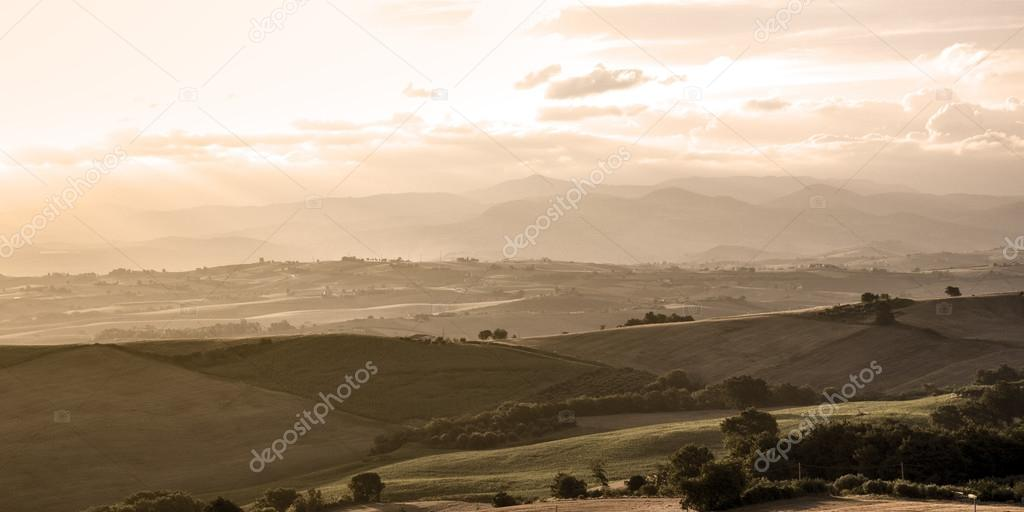 Tuscany typical rural landscape