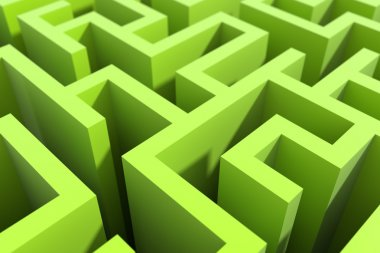 Maze background, risk and solution illustration concepts