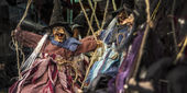 Photo Witch puppet, close up photo