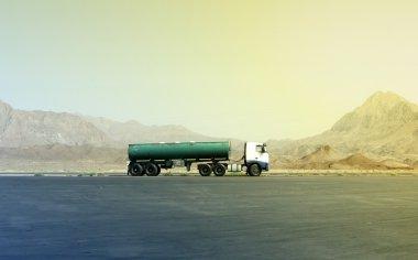Truck in the desert in central Iran