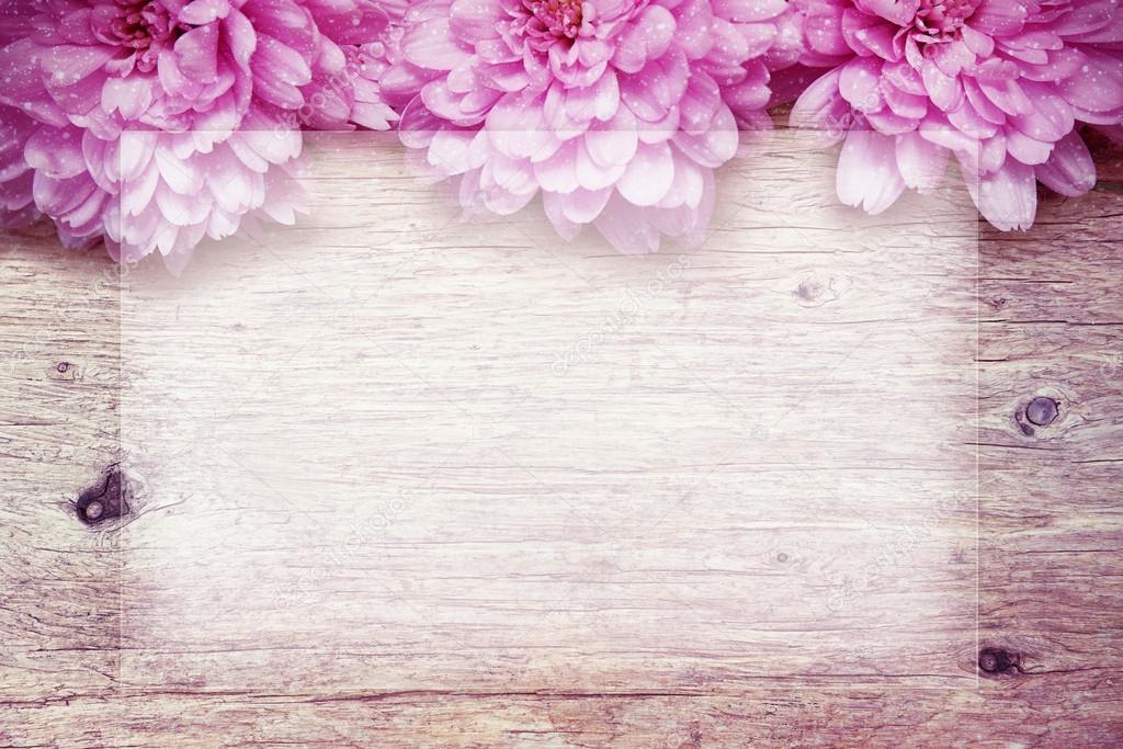 Fondo De Madera Vintage Con Flores Blancas Manzana Y: Madera Flores Fondo T