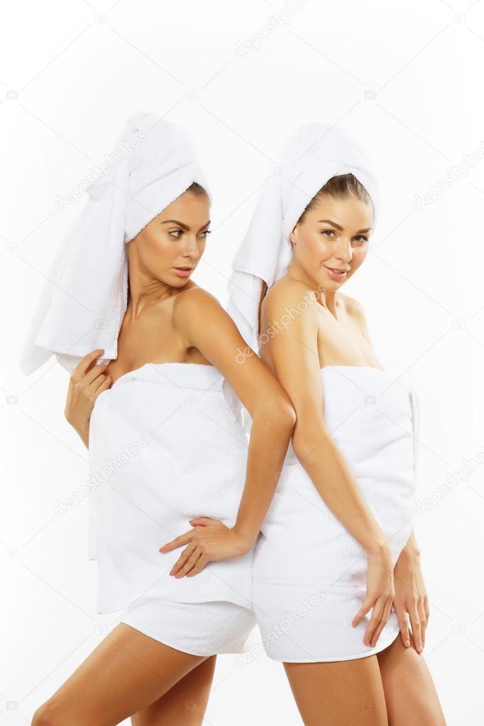 girl towel shower Teen
