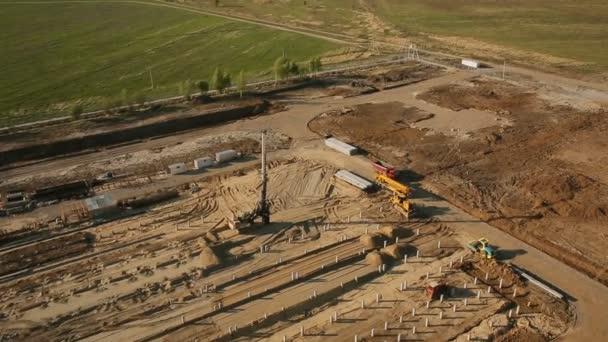 staveniště, letecký snímek