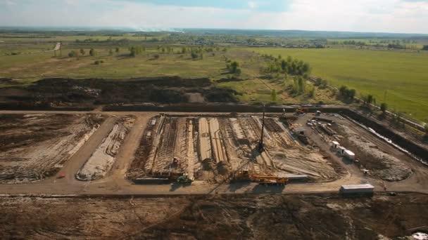 Stavební práce na pozemku