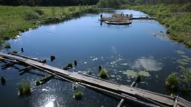 pisztráng halgazdaság a folyó