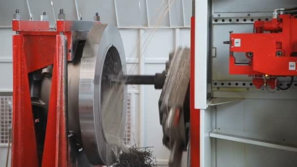 metal processing closeup